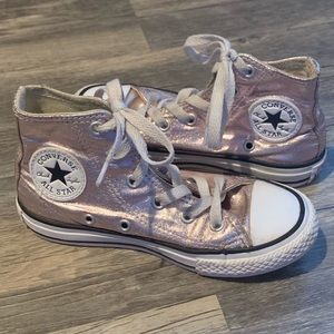 Other - Converse Rose Gold High-Top Sneakers